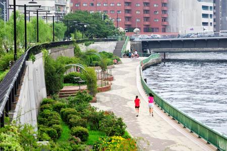 隅田川テラス(東日本橋周辺)