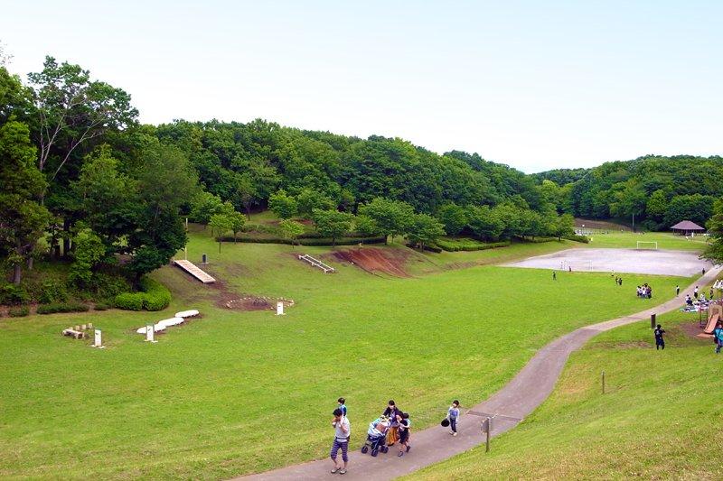 「東京都立小山田緑地」の様子