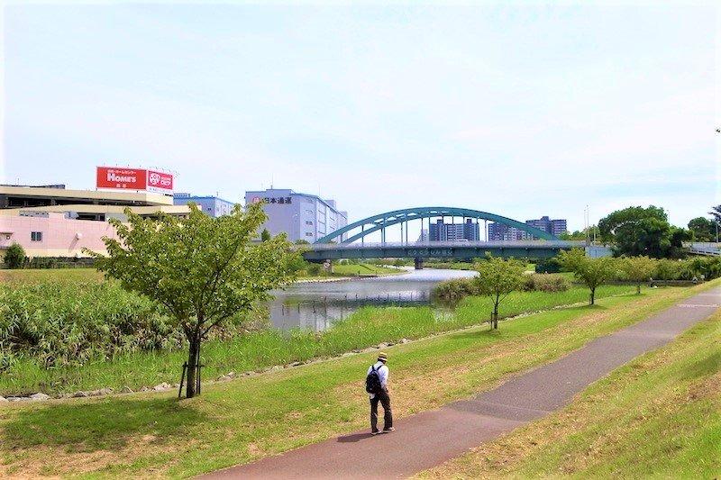 「江東新橋」と旧中川