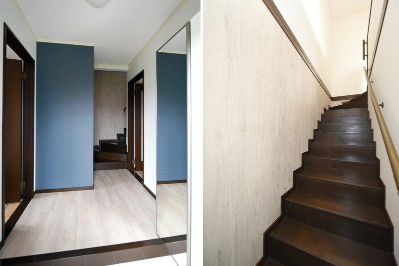 玄関や階段など隅々まで上品でスタイリッシュ