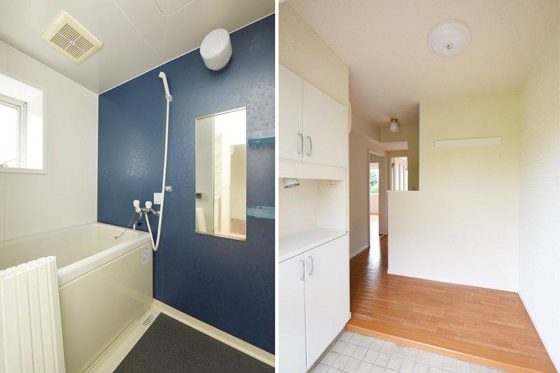 スタイリッシュなバスルームと広々した玄関!
