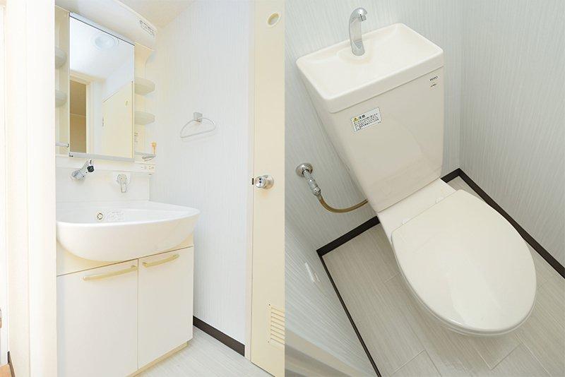きれいな洗面所とトイレ