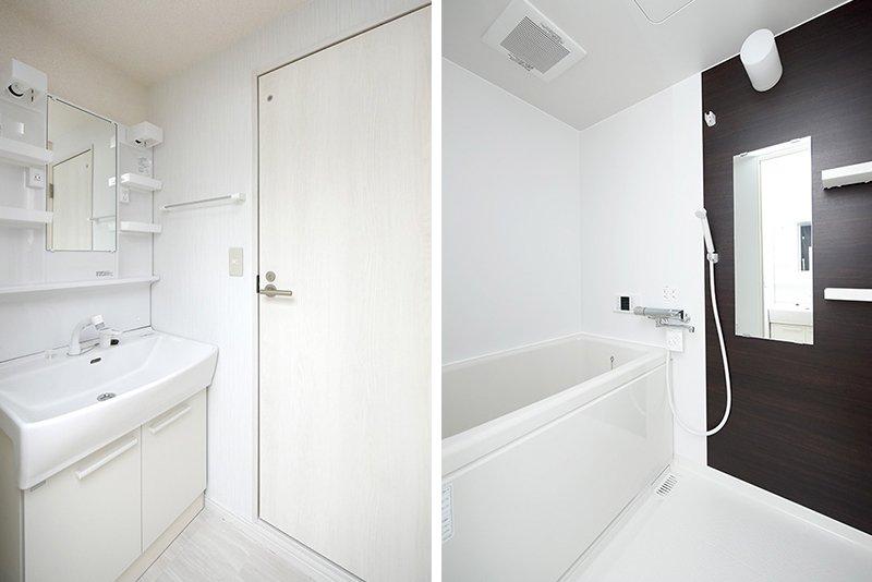 シャワー付き洗面台は新品
