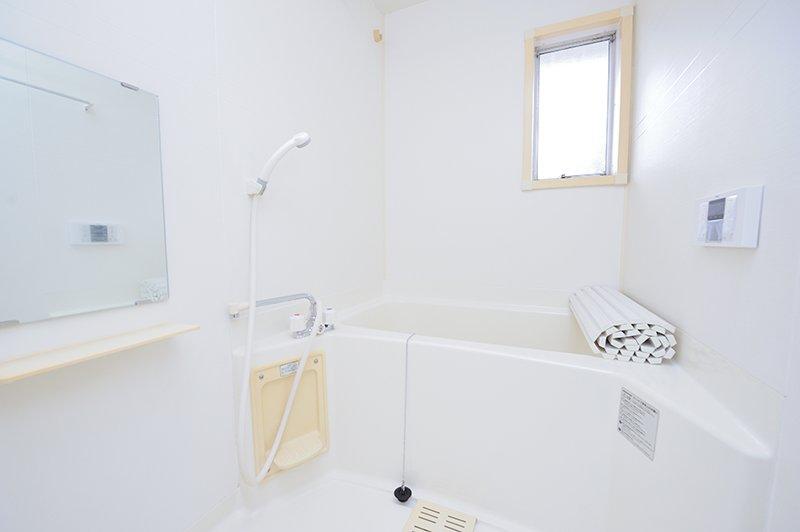リフォームされた浴室が魅力的