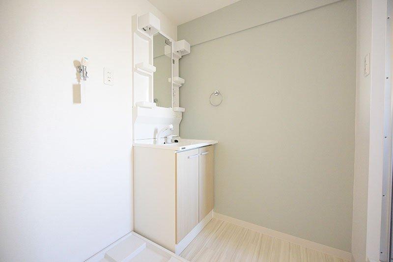 広くて使いやすそうな洗面所