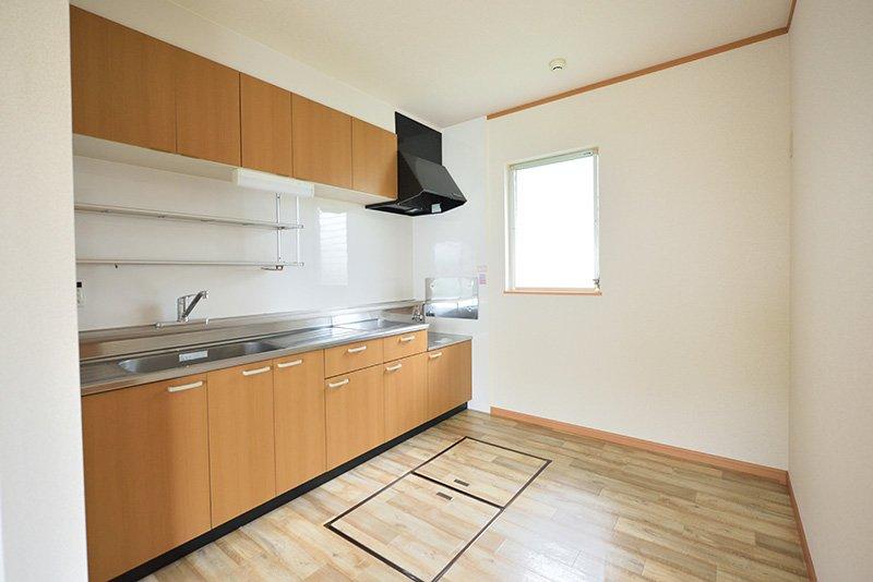 床下収納があるキッチン
