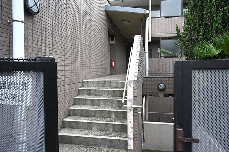 裏口の階段