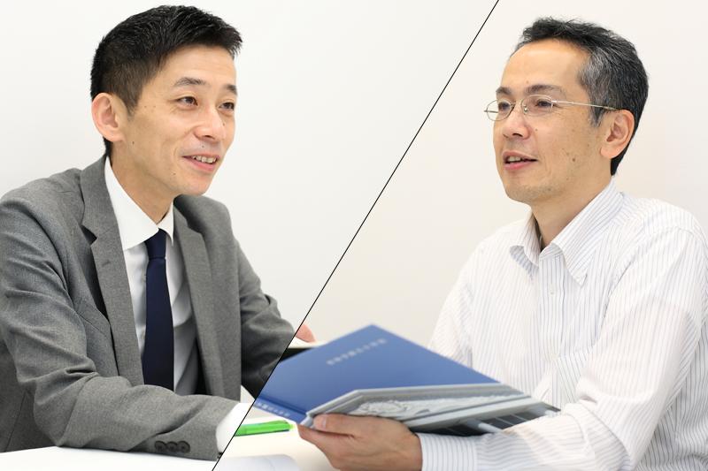 杏林大学広報・企画調査室中村さん、地域交流推進室室長古本先生