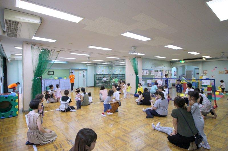 「乳幼児クラブ」が行われているプレイルーム