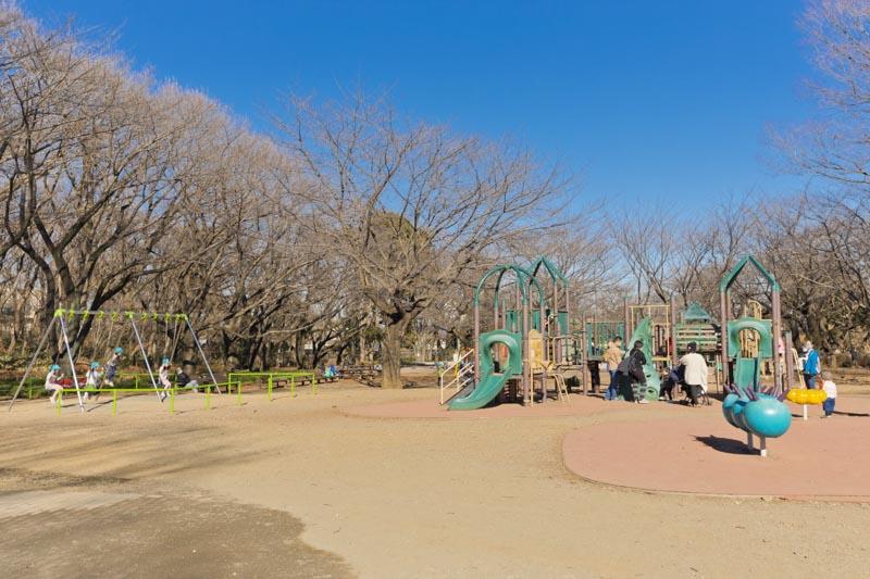 小さな子どもも大きな子どもも大満足の遊具広場