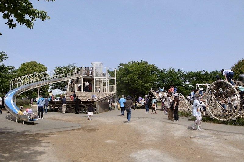 「大島小松川公園(約3,200m)」のアスレチック広場